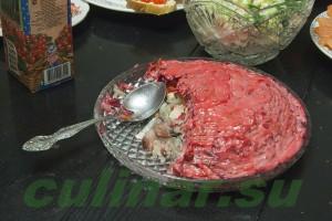 Новогодний салат - Сельдь под шубой