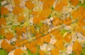 Салат из курицы с мандаринами