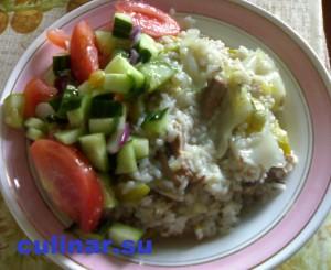 Каша из цельного зерна риса с овощами!
