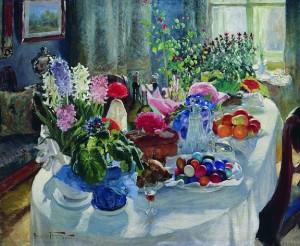 Пасхальный стол. 1915-1916
