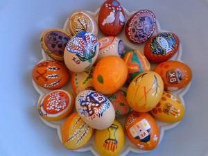 12 ингредиентов для приготовления  салата пасхальные яйца
