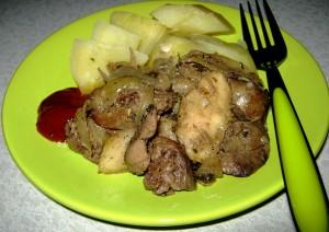 Приготовление куриной печени