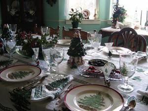 Сервировка праздничного новогоднего стола на новый 2013 год