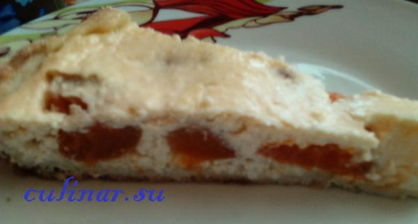 Творожный-ягодный пирог