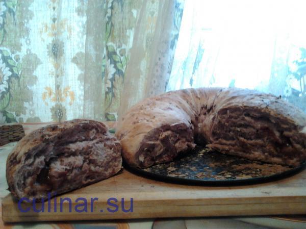 Постный стол: Орехово-вишневый рулет с джемом