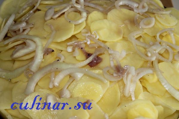 Картофель по-французски с маринованной свининой
