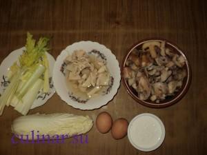Салат диетический с кальмаром