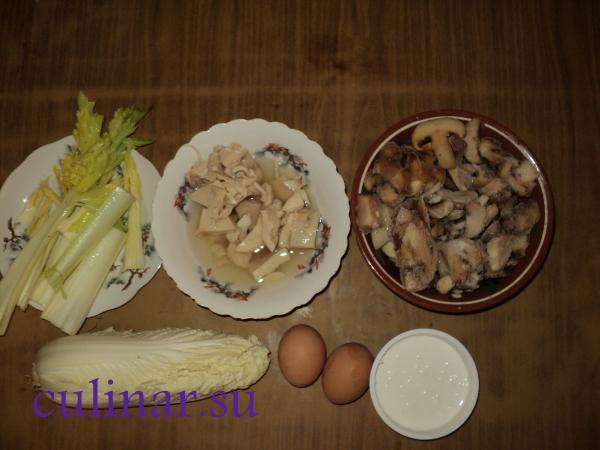 Состав в салат диетический с кальмаром