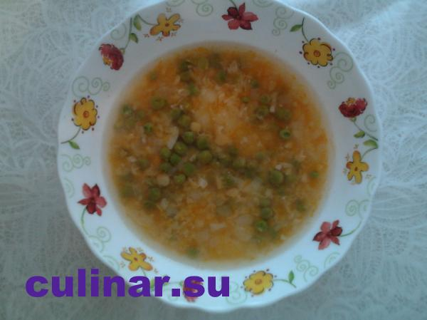 Успенский пост: суп гороховый