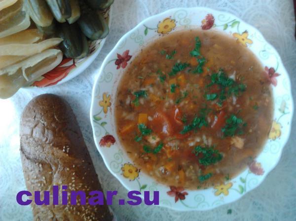 Успенский пост: суп харчо