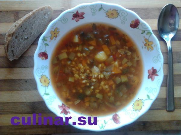 Успенский пост: суп рассольник