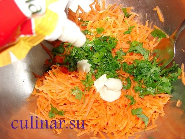 Простой морковный салат на новый год