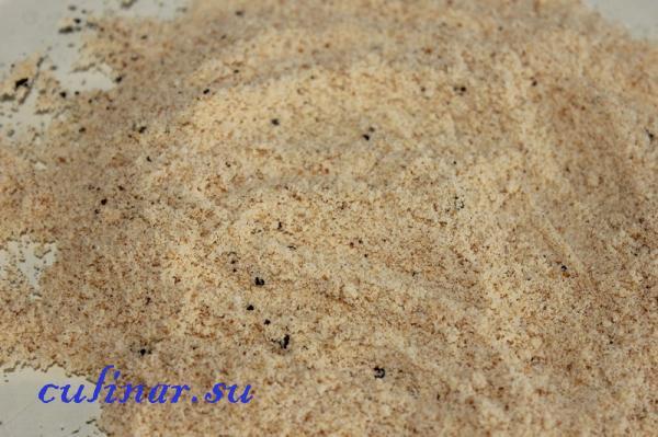 Рецепт цветной капусты в панировочных сухарях