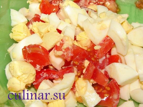 Салат из помидоров и яиц