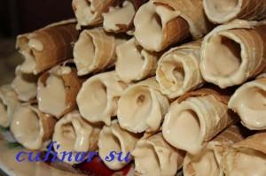 Вафельные трубочки вкус детства
