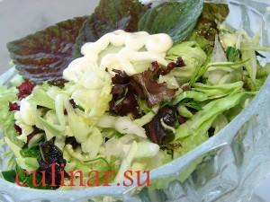 Зеленый листовой салат: Витамин