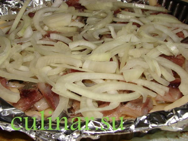 Картофель с сельдью и сливками