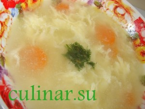 Яично-вермишелевый суп