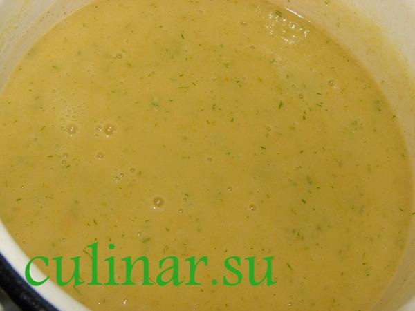 Суп-пюре овощной с кабачками