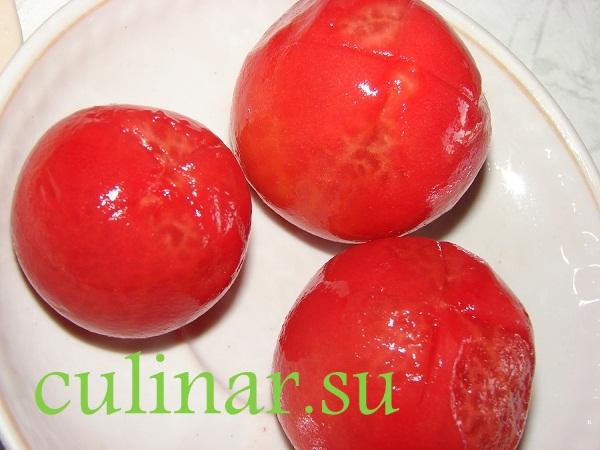 Суп-пюре с кабачками и томатами