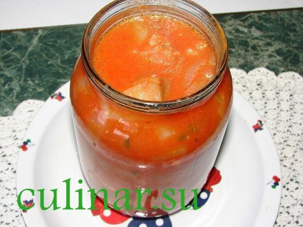 Белые баклажаны в кисло-сладком томатном соусе