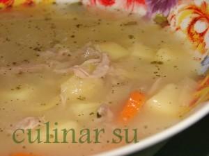 Быстрый суп из гороховых хлопьев