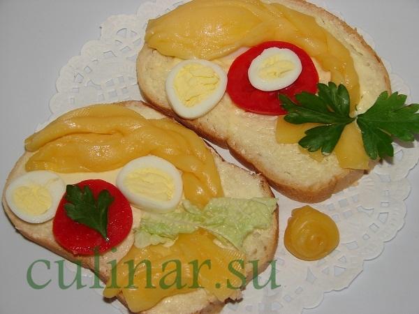 Оригинальный бутерброд коса