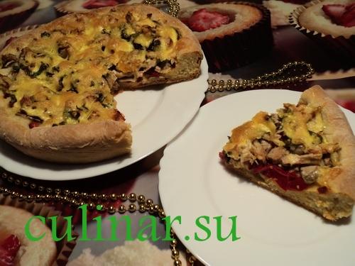 Рецепт пошаговой пиццы
