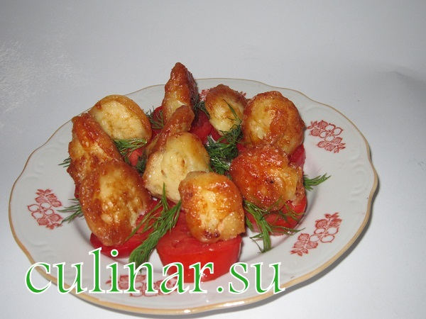 Сырная закуска из цветной капусты