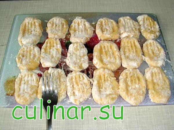 Картофельные ньокки в сливочно-грибном соусом