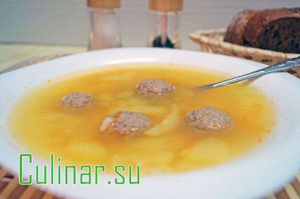 Суп с фрикадельками за 20 минут