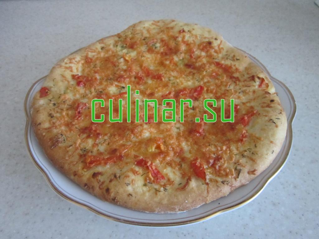 Лепешка с зеленью и сыром