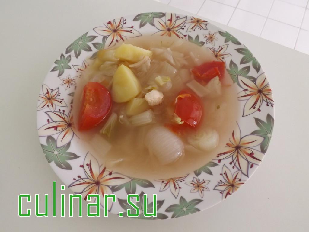 Суп китайский на курином бульоне