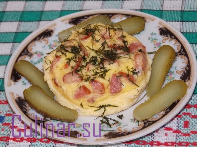 Омлет с колбасой и сыром за 5 минут – culinar.su