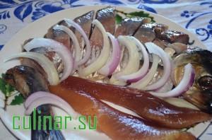 Проще простого на новый год: закуска из соленой селедки на новый год